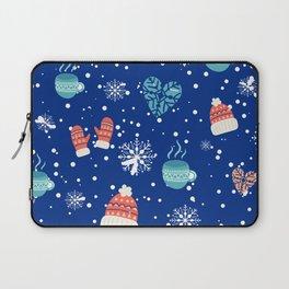 Winter Pattern Mittens Mugs Hearts Snow Flakes Laptop Sleeve