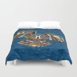 night owl blue Duvet Cover