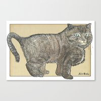 furry Canvas Prints featuring Furry Cat by Felis Simha