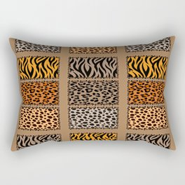 Wild Cats Jungle Print Rectangular Pillow