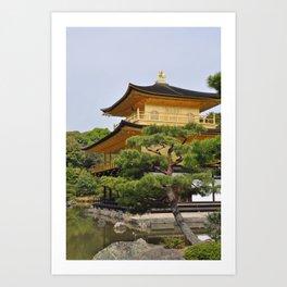 Temple of the Golden Pavillion Art Print