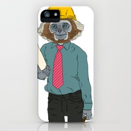 MONKEY WORKER CLOSEUP (2 of 2) iPhone Case