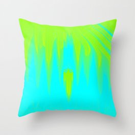 Falling sky abstract Throw Pillow