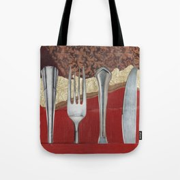 Silver & Gold Tote Bag