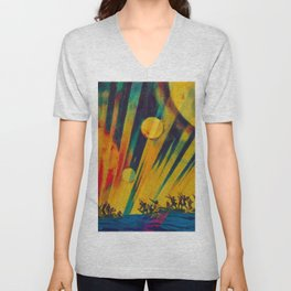The New Planet, landscape painting by Konstantin Yuon Unisex V-Neck