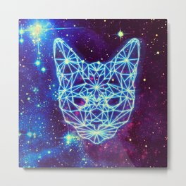 Galactic Kitten Metal Print