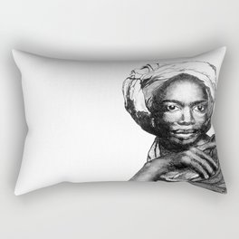 Contemplation Rectangular Pillow
