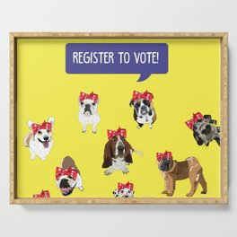 Political Pups-Register to Vote! Serving Tray