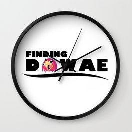 finding dawae Wall Clock