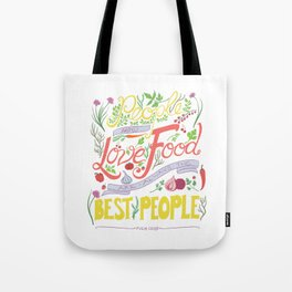 Julia Child Food Quotation Tote Bag