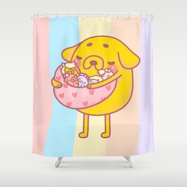 Jake the Dad Shower Curtain