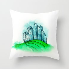 City on a Hill Throw Pillow
