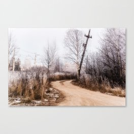 Winer in the country Canvas Print
