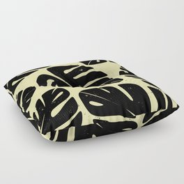 Monstera Leaf Print 2 Floor Pillow