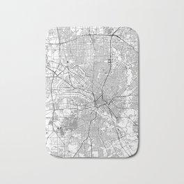 Dallas White Map Bath Mat