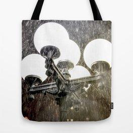 Union Square NYC rainy night. Tote Bag