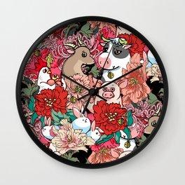 Because Vegan Wall Clock