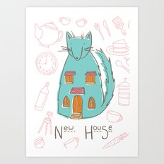 Mrs. Foxwolfhouse-New Home Art Print