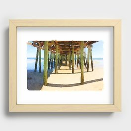 Old Orchard Beach Pier Recessed Framed Print