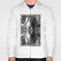 Abstract.White+Black Peacock. Hoody