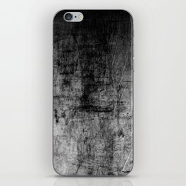Silver Textured Concrete Pattern iPhone Skin