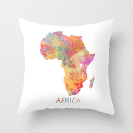 Africa map 2 Throw Pillow