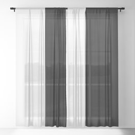 White and Black 25 Sheer Curtain