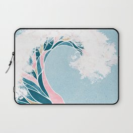 Surf X // Cali Beach Summer Surfing Rip Curl Gold Pink Aqua Abstract Ocean Wave Laptop Sleeve