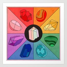 Crystal Color Wheel Art Print