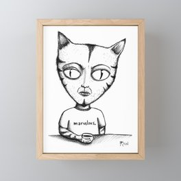 Marvelous Cat Framed Mini Art Print