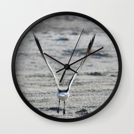 Seagull with Breakfast Wall Clock