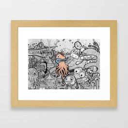 Awkward Octopussy Framed Art Print