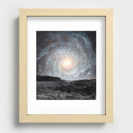The Milky Way seen from a rogue planet. Recessed Framed Print
