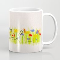 into the wild Mugs featuring Wild  by Hayley Lang