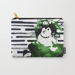 Double-barred Finch Ink Splash Carry-All Pouch