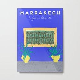 Le Jardin Majorelle, Marrakech (Marrakesh), Morocco Travel Poster Metal Print