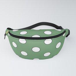 Green Pastel Polka Dots Fanny Pack
