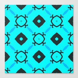 Light Blue Behind Dark Diamonds Canvas Print