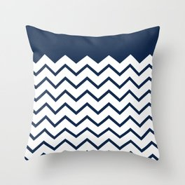 cheveron blue Throw Pillow