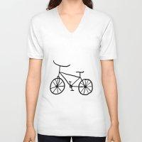 bike V-neck T-shirts featuring Bike by Kristijan D.