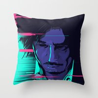 movie poster Throw Pillows featuring Oldboy - Alternative movie poster by FourteenLab