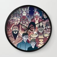 dungeons and dragons Wall Clocks featuring Dungeons & Dragons by Steven P Hughes
