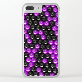 Pattern of black and purple spheres Clear iPhone Case
