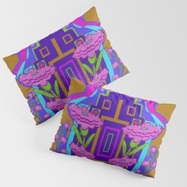 Temple of Flowers Pillow Sham