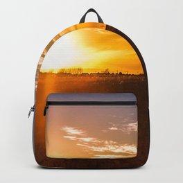 October Sunset on a Saskatchewan Farm Backpack
