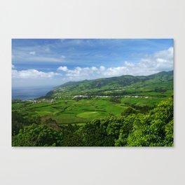 Azores islands landscape Canvas Print