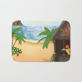 """Welcome to Polynesian Paradise"" Bath Mat"