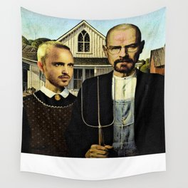 Mr. White and Mrs. Pinkman (The BAD Family) Wall Tapestry