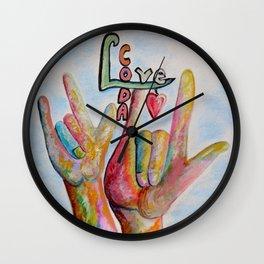 CODA - Children of Deaf Adults Wall Clock