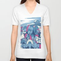 eternal sunshine V-neck T-shirts featuring Eternal Sunshine of the Spotless Mind by Ale Giorgini